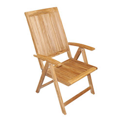 Be Furnished - Lahaina Multi-Position Reclining Folding Armchair (BF-1826) - Lahaina Multi-Position Reclining Teak Folding Armchair��by Anderson Teak
