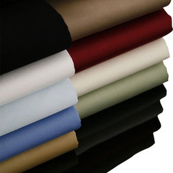 """Luxor Linens - Valentino Sheets, King, Wine - For those who desire the finest linens the world has to offer! This Egyptian import is pure elegance plain and simple. The Valentino collection is made from the finest 100% ELS (Extra Long Staple) Mercerized Egyptian cotton. Woven to a luxurious 1200 Thread Count the result is a feel that's cool, crisp, and heavenly soft. 100% Mercerized Egyptian Cotton. Extra Long Staple. Feel: Cool, Crisp, Very Soft. Machine wash and dry. Properly fits mattresses up to 19""""."""