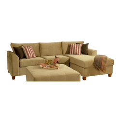 Chelsea Home Furniture - Chelsea Home Jefferson 2-Piece Sectional in Bella Coffee - Jefferson 2-Piece Sectional in Bella Coffee belongs to the Chelsea Home Furniture collection