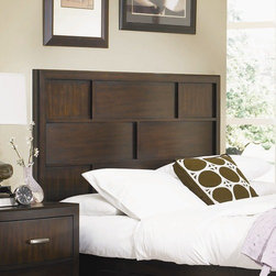 Najarian Furniture - Najarian Furniture Key West Panel Headboard NAJ1573 - Features: -Hardwood solid and okume veneers construction.-Pecan finish.-Key West collection.-Distressed: No.Dimensions: -Queen: 56'' H x 64'' W x 2'' D.-King/California King: 56'' H x 80'' W x 2'' D.
