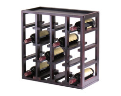 Winsome Wood - Winsome Wood Kingston Stackable Slot Cube - 16-Bottle Wine Cube in Dark Espresso - Stackable Slot Cube - 16-Bottle Wine Cube in Dark Espresso belongs to Kingston Collection by Winsome Wood Storage is designed to stand alone or as a modular piece that is also stackable. This slot design holds 16 bottles is made of sturdy wood with espresso finish Wine Rack (1)