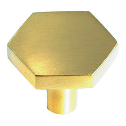 Hex Pull, Brass - Material: Solid Brass