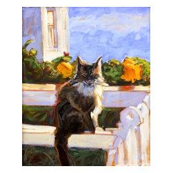 Hello Kitty, Original, Painting - Sunny day, pretty kitty