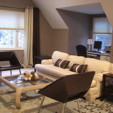 Modern Family Room by Manna from Heaven