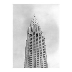 Artehouse Chrysler Building Art Print - 18W x 24H in. - Iconic Art Deco architecture. Chrysler Building is a limited edition black and white photograph printed on Somerset Velvet paper. This artistic photograph depicts one of the world's most beloved skyscrapers. This vintage photograph measures 24L x 18 inches high has a classic white border and is ready to be framed. Excellent gift idea for students of architecture and art deco collectors.