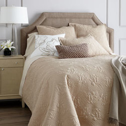 "SFERRA - SFERRA Two Standard Pillowcases - Exclusively ours. The ""Annabelle"" bedding collection by Sferra offers inviting textures galore in colors to mix and match. Select color when ordering. Each floral-quilted cotton voile quilt set with polyester fill comes with two shams. Matching Eur..."