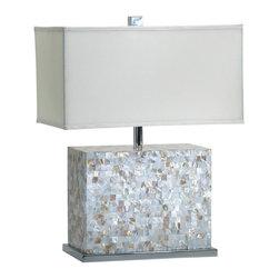 Cyan Design - Cyan Design Shell Tile Lamp in White and Polished Chrome - Shell Tile Lamp in White and Polished Chrome