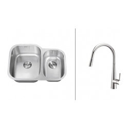 Ruvati - Ruvati RVC2542 Stainless Steel Kitchen Sink and Chrome Faucet Set - Ruvati sink and faucet combos are designed with you in mind. We have packaged one of our premium 16 gauge stainless steel sinks with one of our luxury faucets to give you the perfect combination of form and function.