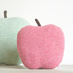 Apple Cushion by Studio Meez - These cushions are an excellent choice for a nursery. Their apple shapes and soft sherbet shades are definitely a sweet choice.