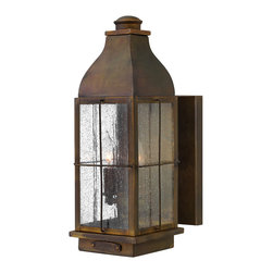 Hinkley Lighting - Bingham Wall Outdoor - If you love turn-of-the-century styling but cannot afford a reproduction, you're in luck. This beautiful outdoor lantern is almost too fabulous to go outside, but that's where it'll make its statement. The all-brass construction can take it!