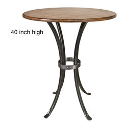 """Montage 40"""" Bar Table by Stone County Ironworks - Dimensions:"""