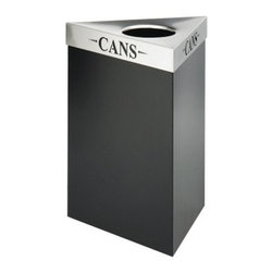 Safco Trifecta 15 Gallon Waste Receptacle Black Recycling Bin - Additional FeaturesComes with your choice of lidWeighs 29 lbs.Measures 19.5L x 19.5W x 26H inchesMake recycling in the workplace easy with the Safco Trifecta Waste Receptacle Black Recycling Bin - 15-Gallon. Its elegant and flexible design accommodate any workplace setting while the laser cut inscription on the stainless steel lid options designate whether the bin is for cans glass paper plastic or bottles. With several lids to choose from this recycling bin is designed to keep bags firmly in place so that your workplace looks neat and tidy. Measuring 19.5L x 19.5W x 26H inches this recycling bin weighs 29 lbs..