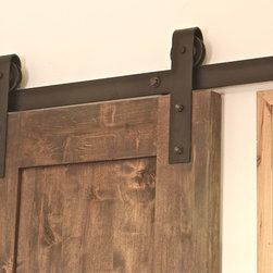 Industrial Barn Door Hardware - Rugged and functional, Industrial Barn Door Hardware.  Looks great inside and out: http://rusticahardware.com/industrial-barn-door-hardware/