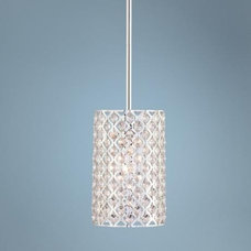 "Possini Glitz Crystal and Chrome 6"" Wide Pendant Light 