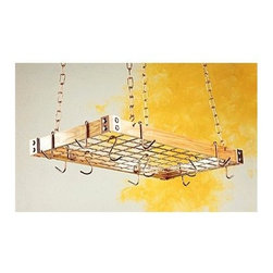 Rogar - KD Rectangle w Grid in Light Wood w Copper - Select Hardwoods enhanced w Chrome, Brass or Copper corner brackets and accessories. Give a kitchen a warm and homely feel. Includes 8 butcher and 4 grid hooks. Light Wood w Copper accessories. 30 in. L x 15 in. W x 2 in. H (9 lbs.)