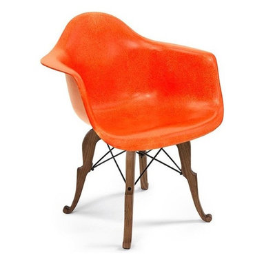 Modernica Prince Charles Arm Shell Chair - Peter Shire and the Modernica Studio teamed up and designed the Prince Charles Chair. By combining the modern and the classic, the chair has been described as a distant cousin of Queen Anne.