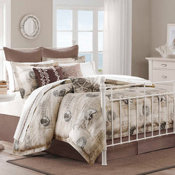 Harbor House - Harbor House Arabella 3-piece Duvet Cover Mini Set - The Arabella Duvet Cover Set mixes layers of seascape, script and seashells to create a beautiful escape within the bedroom. The calming set is made by printing on cotton twill for added dimension to the top of the bed.