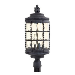 Minka-Lavery - Minka-Lavery Mallorca 4-Light Outdoor Post Mount - 8886-A39 - This 4-Light Post Light has a Black Finish and is part of the Mallorca Collection.