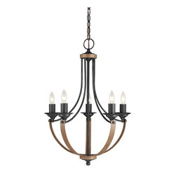 Sea Gull Lighting - Sea Gull Lighting-3280405-846-Corbeille - Five Light Chandelier - *Canopy Included: TRUE
