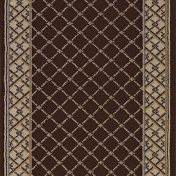 Natco - Contemporary Indoor/Outdoor Natco Rugs Stratford Bedford Brown 26 in. x Your - Shop for Flooring at The Home Depot. The Stratford Bedford Brown 26 in. x Your Choice Length Roll Runner spors a warm color scheme and eye-catching design. This runner features double pointing for enhanced density and a heavy pile making it an ideal complement to floors and home furnishings. To keep this runner looking its best spot clean for easy maintenance. Color: Brown.