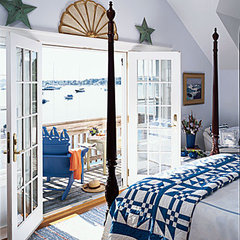 Blue and white coastal bedroom - 50 Comfy Cottage Rooms - Photos - CoastalLiving