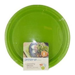 Preserve Large Reusable Plates - Apple Green - Case Of 12 - 8 Pack - 10.5 In - Powered by Left overs