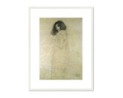 Portrait of a young woman, 1896-97 - Gustav Klimt, Portrait of a young woman, 1896-97. Private Collection.