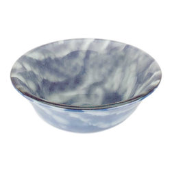 Renovators Supply - Vessel Sinks Blue/White Glass Cirrus Clouds Barrel Vessel Sink - Glass Vessel Sinks: Double Layer Tempered glass sinks are five times stronger than glass, 3/4 inch thick, withstand up to 350 F degrees,  can resist moderate to high degrees of impact & are stain��_��__��_��__��_��__proof. Ready to install this package includes FREE 100% solid brass chrome-plated pop-up drain, FREE machined 100% solid brass chrome-plated mounting ring & silicone gasket. Measures 16 1/4 in. dia. x 5 7/8 in. deep x 3/4 in. thick.
