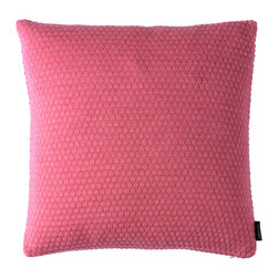 Louise Roe Design Essentials - Sailor Knit Decorative Pillow, Pink - Pastels ahead! This pillow works great as lovely contrast to greys, blacks, browns. This is a knitted pillow in 100% cash wool by Danish designer Louise Roe.