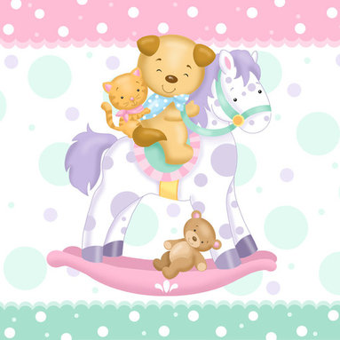 Murals Your Way - Rocking Horse Wall Art - Painted by Janet  Skiles, Rocking Horse wall mural from Murals Your Way will add a distinctive touch to any room