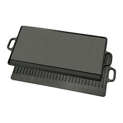 Bayou Classic - Bayou Classic Cast Iron Reversible Griddle - Cook with ease on this cast iron reversible griddle. Cleaning of this classic cast iron griddle is performed by rinsing in hot water without detergent. This sturdy griddle may be used in the oven and is the perfect addition to any kitchen.