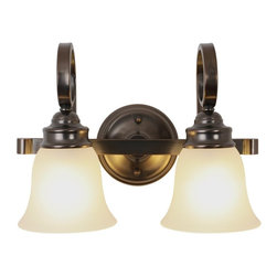 Premier - Two Light 15.5 inch Vanity Fixture - Oil Rubbed Bronze - Premier 617227 15-1/2in. W by 11in. H by 7-1/2in. Proj. Sanibel Flush Mount and Vanity Lighting, 2 Light Vanity, Oil Rubbed Bronze.