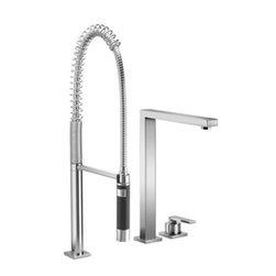 Lot | Two-hole Mixer With Profi Spray Set | Collection By Dornbracht - Lot | A FITTING FOR MODERN, DISCERNING KITCHENS. | Single-lever mixer with pull-out spray set | Collection By Dornbracht | Available at www.shopstudio41.com