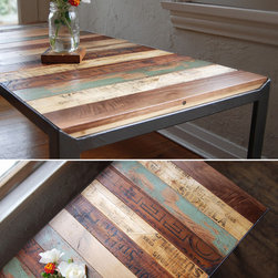 The re Surface Table - Why can't tables be more like light bulbs and underwear? You know ... easy to change.