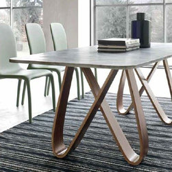 Tonin Casa - Butterfly Table, Marble Top 55-Inch   Tonin Casa - Design by Angelo Tomaiuolo.