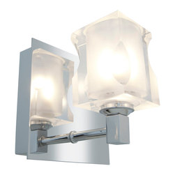 Joshua Marshal - Frosted Crystal Glass 4 Light Bathroom Sconce - Frosted Crystal Glass 4 Light Bathroom Sconce
