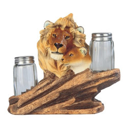 GSC - 7 Inch Compassionate Lions Embracing Salt & Pepper Shaker - This gorgeous 7 Inch Compassionate Lions Embracing Salt & Pepper Shaker has the finest details and highest quality you will find anywhere! 7 Inch Compassionate Lions Embracing Salt & Pepper Shaker is truly remarkable.