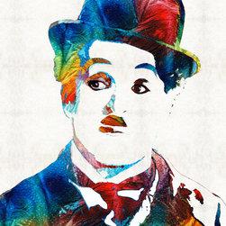 Miscellaneous Art - Charlie Chaplin Art - Oh Charlie - By Sharon Cummings