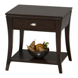 Jofran - Jofran 629-3 Manhattan Espresso Square End Table - The simplicity and elegance, style and practicality - these are the main theses of Occasional tables by Jofran Inc. Among the great variety of collections you can choose the one that best suits your apartment, and that is to your liking. This Manhattan espresso Square end table belongs to 629 Series - Manhattan espresso collection by Jofran Inc. The classic formulas of color combinations are not valid in Jofran Furniture territory: here is ruled by laws solely of your own preferences and fantasies. Huge selection of colors in combination with a wide choice of shapes and sizes allow you to find among this variety precisely the furniture you've always wanted to see in your home. Jofran Furniture offers high quality, casual furniture pieces that are constructed from premium Asian hardwoods, and finished with beautiful veneers. Durable materials and quality assembly will help your furniture to serve for many years and will not let you be disappointed in your choice.