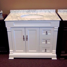 Contemporary Bathroom Vanities And Sink Consoles by Marco Draperies and Interiors LLC