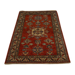 Super Kazak Tribal Design 100% Wool 3'x5' Hand Knotted Oriental Rug SH16714 - This collections consists of well known classical southwestern designs like Kazaks, Serapis, Herizs, Mamluks, Kilims, and Bokaras. These tribal motifs are very popular down in the South and especially out west.