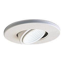 "Nora Lighting - Nora NL-463 4"" Adjustable Gimbal with Deep Baffle, Nl-463ww - 4"" Adjustable Gimbal with Deep Baffle"