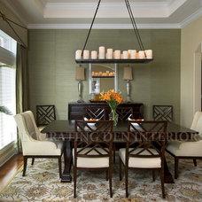 Traditional Dining Room by Decorating Den Interiors - Deborah Bettcher