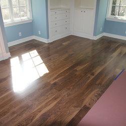 "After 2 - After 2: custom long length engineered 3/4"" x 5"" 6mm veneer sap walnut square edge natural"