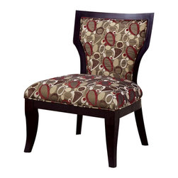 Coaster - Coaster Accent Chair in Oblong Pattern Brown Cappuccino - Coaster - Accent Chairs - 902044 - Relax in style with this oblong patterned accent chair with a large seating area and tapered cappuccino legs.