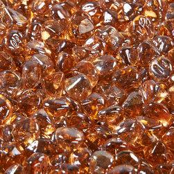 Fire Glass Media Accessories- Large copper Diamonds -