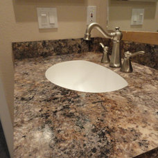 Traditional Vanity Tops And Side Splashes by Dan Rodgers Custom Interiors