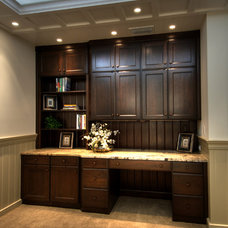 Traditional Home Office by Signature Kitchens of Vero Beach