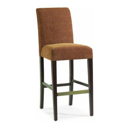 "Hooker Furniture - Stellene Stool - Set of 2 - Counter Height - White glove, in-home delivery included! Cheetz Copper fabric. Set of two stools.  Bar Stool - Seat Height: 31 1/2""  Chair Seat: 19 1/2"" w x 17 1/2"" d x 5"" h  Floor to bottom of front stretchers: 11""  Floor to top of side stretchers: 14""  Top of side stretchers to top of seat: 17 1/4""  Counter Stool - Seat Height: 25""  Chair Seat: 19 1/2"" w x 17 1/2"" d x 5"" h"