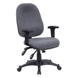 Flash Furniture - Flash Furniture Office Chairs Fabric Task Chairs X-GG-YG-266-TB - This multi-functional computer task chair from Flash Furniture has all the necessary features for all-day comfort while you work. Chair features independent adjustments in seat height, back height, seat angle and back angle - in addition to ergonomic design - this office chair will make any application a pleasure. [BT-662-GY-GG]